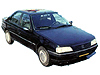 Peugeot 405 four door saloon (1988 to 1996)  Aug 1992 models onwards: