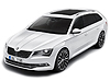 Skoda Superb estate (2015 onwards) for models with variable boot floor in the LOWER position: