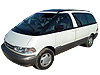 Toyota Estima (1990 to 2000)  with twin moon roof, not for 'J' top/high roof:
