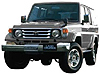Toyota Land Cruiser 70 three door (1985 to 1996) :also known as - Toyota 70 Prado three door