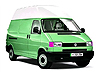 Volkswagen VW T4 Transporter L1 (SWB) H2 (high roof) (1991 to 2002)  :
