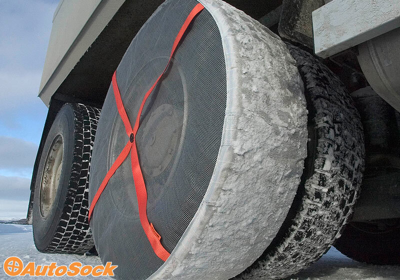 The Roof Box Company: AutoSock for Trucks - textile wheel covers/snow chains
