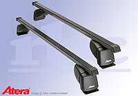 Mazda 2 five door (2003 to 2007) :Atera SIGNO ASF Fixpoint steel roof bars no. AR4127