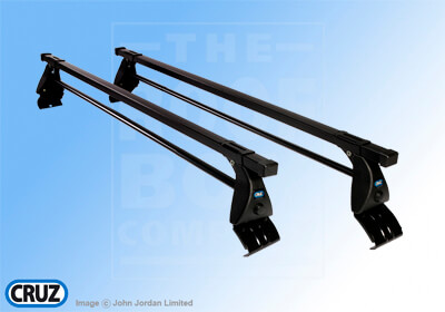 + CRUZ 115cm OT roof bars with adapter kit 5073
