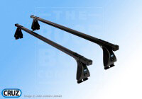 Mazda 3 five door (2009 onwards) :+ CRUZ 115cm OS roof bars with adapter kit 5454
