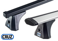 Vauxhall Zafira (2005 onwards) :CRUZ 120cm OptiPLUS SX roof bars with kit 935500