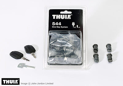 Thule keyed alike lock barrels x 4 no. TU544 - when bought on their own