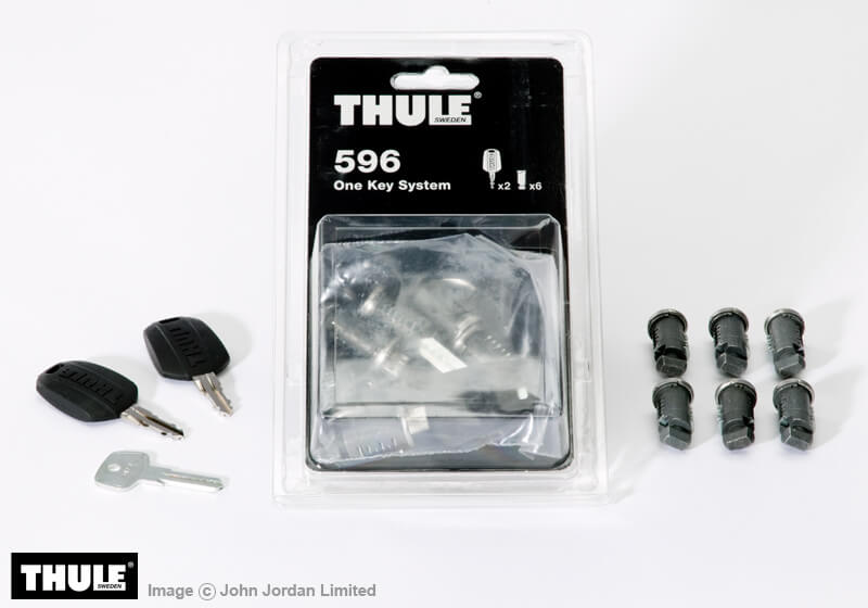 :Thule keyed alike lock barrels x 6 no. TU596 - when bought on their own