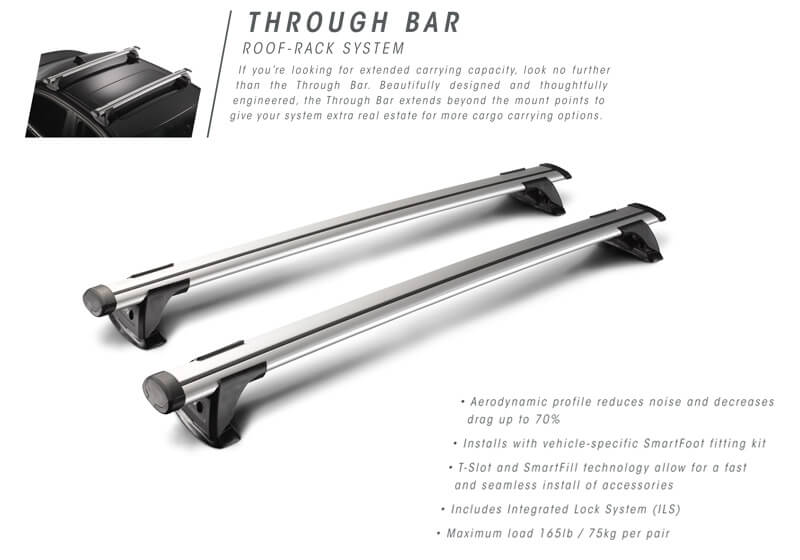 Whispbar™ roof bars are almost silent in use and create minimal drag, optimising fuel use