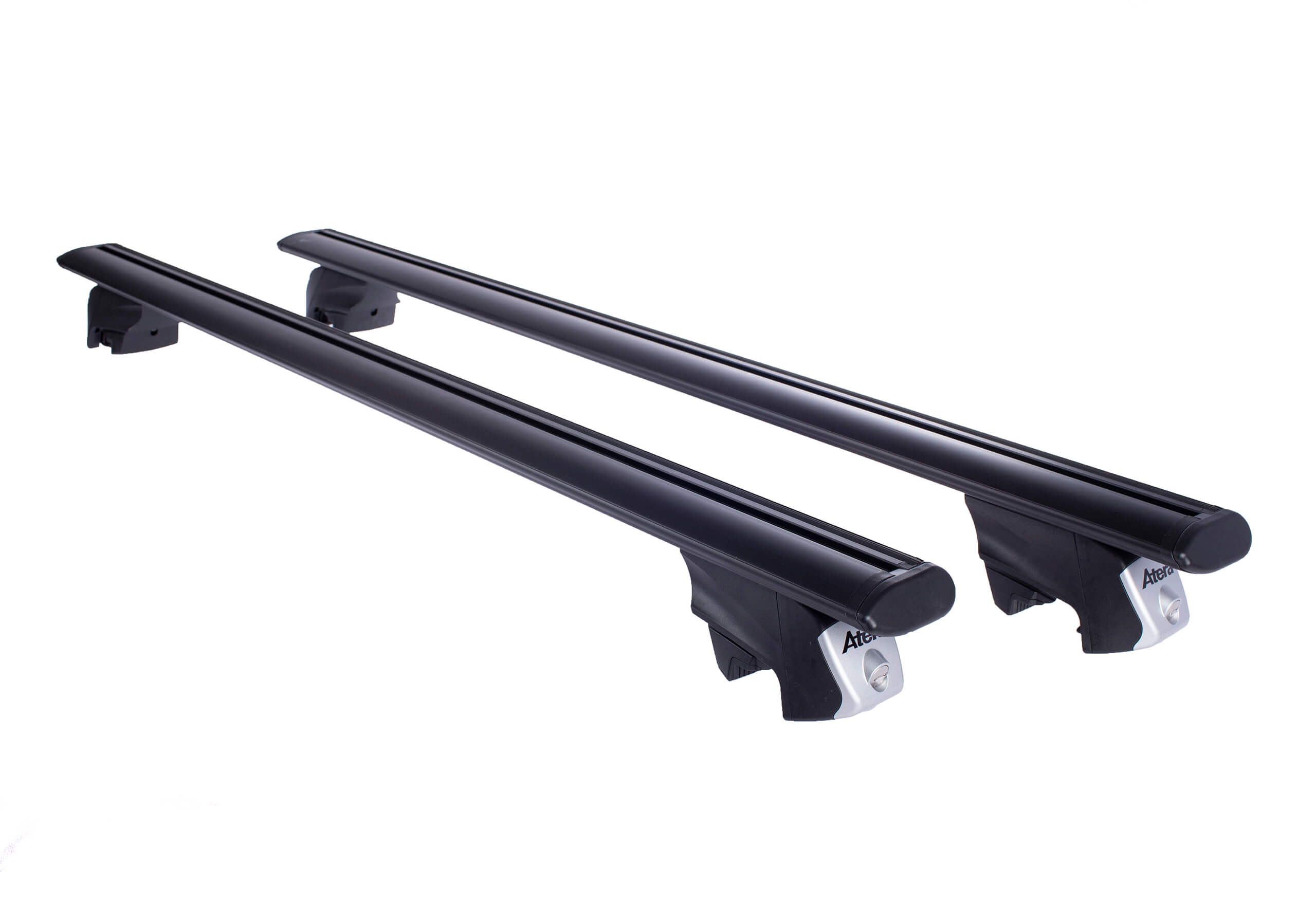 Suzuki Vitara five door (2015 onwards):Atera SIGNO RTD 122cm black aero-profile aluminium bars