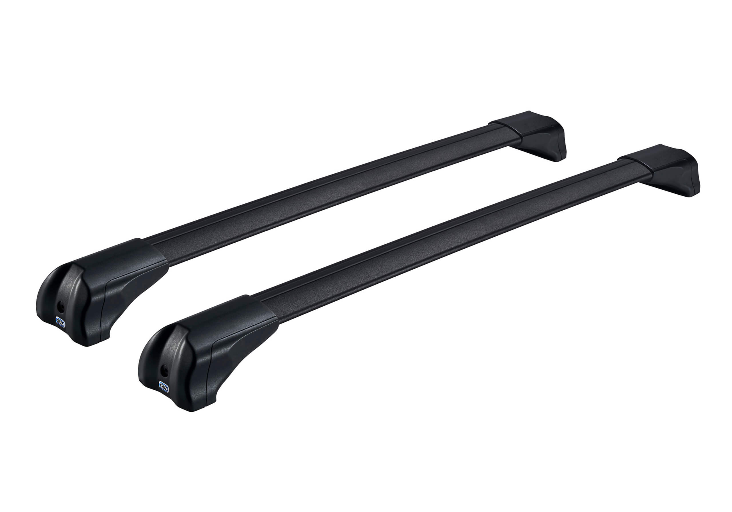 Skoda Fabia four door saloon (2000 to 2007):CRUZ Airo Fuse black aluminium roof bars with fitting kit 6002