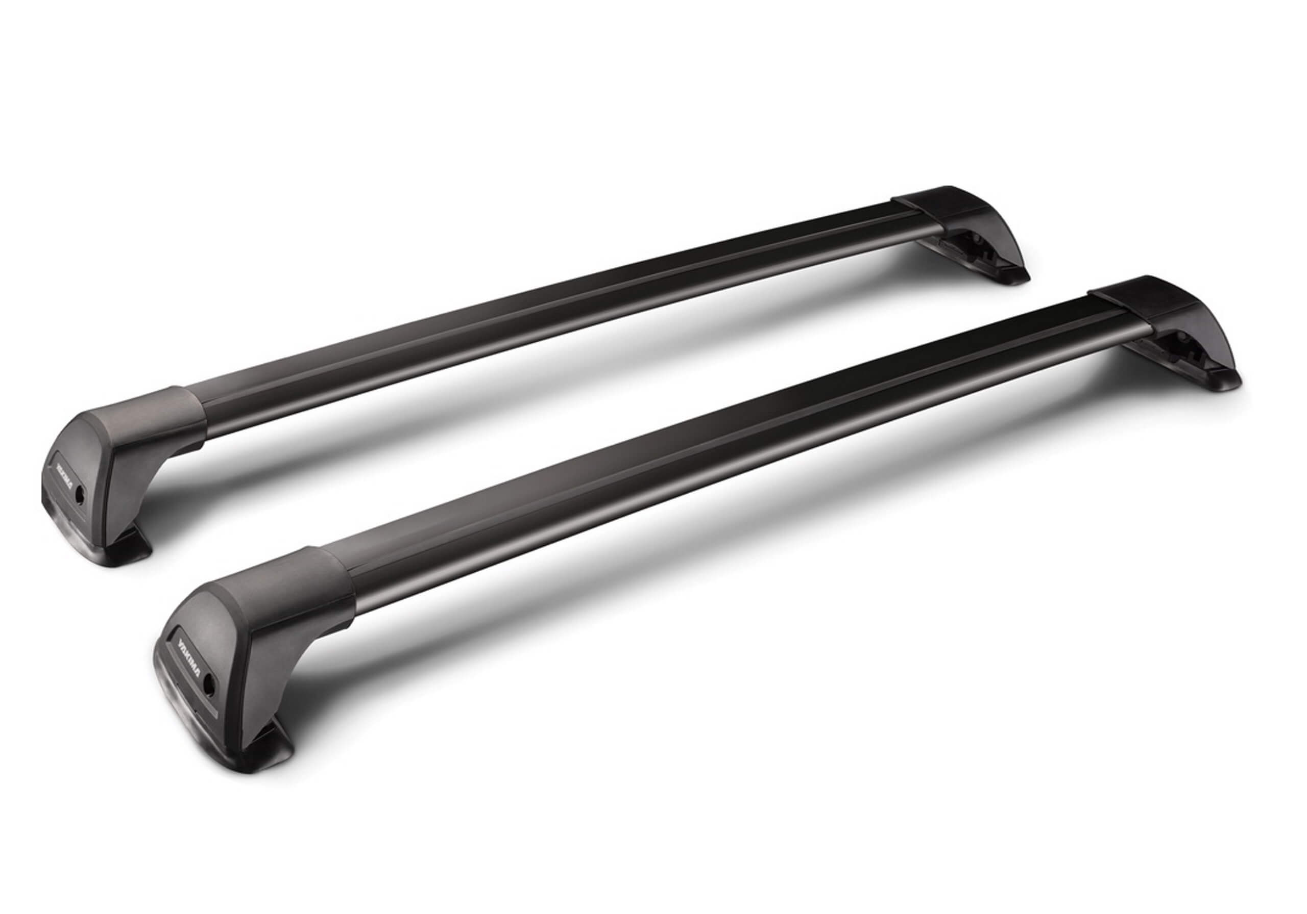 Saab 9-5 four door saloon (2010 to 2012):Yakima roof bars package - S26 black bars with K1082 kit