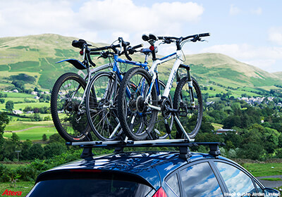 3 X Atera Giro Af Aluminium Bike Carriers With Roof Bars