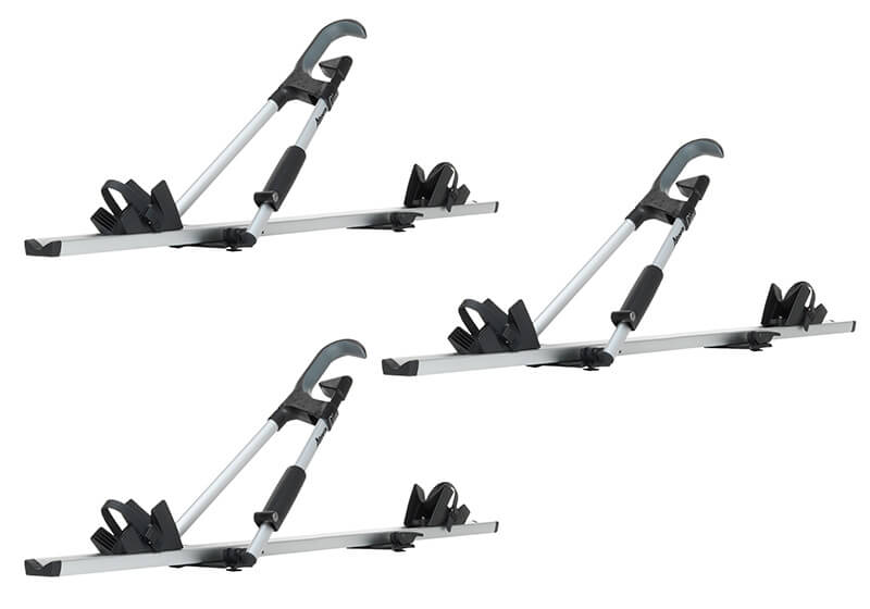 :3 x Atera GIRO AF+ aluminium bike carriers with roof bars