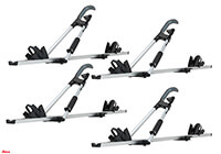 :4 x Atera GIRO AF+ aluminium bike carriers with roof bars