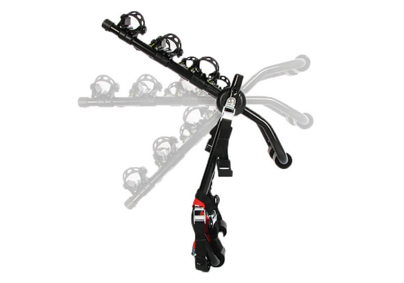 Renault Megane five door (2008 to 2016):BUZZ RACK 'Mozzquito' 3 bike strap on rack no. BRT423