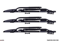 :3 x INNO Tyre Hold bike carriers with locking roof bars