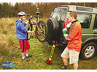 Pendle:Pendle 4 bike Hang On rack - 4WDs + large spares - fits over tow ball