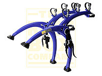 Volkswagen VW Polo five door (2005 to 2009) :Saris Bones 3 bike carrier, blue, no. SAB3-BE