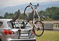 Kia Rio three door (2011 onwards) :Saris Gran Fondo 2 bike carrier no. SAGF2