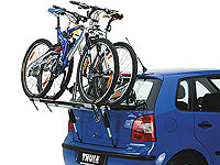 Volkswagen VW Polo three door (2009 onwards) :Thule ClipOn High 9105 for 2 bikes