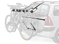 Volkswagen VW Polo five door (2005 to 2009) :Thule FreeWay 968 for 3 bikes (needs a lighting board)