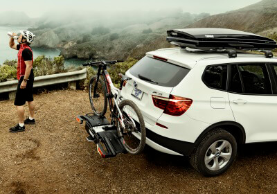 thule easyfold xt folding 2 bike carrier no 933. Black Bedroom Furniture Sets. Home Design Ideas