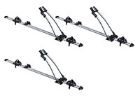 :3 x Thule FreeRide 532 bike carriers with locking roof bars