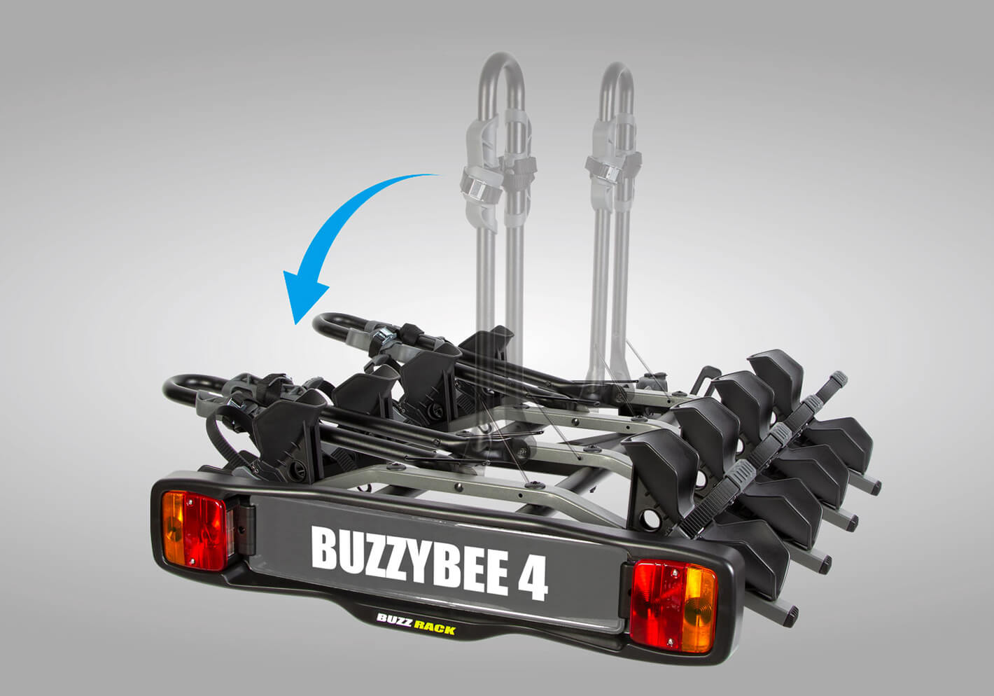 BUZZ RACK BB4 - 4 bike wheel support rack no. BRP324
