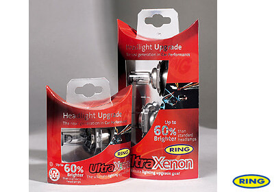 Ring H4 Ultra Xenon headlight bulbs (972 x 2) no. LG103
