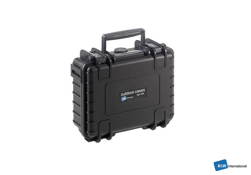 :B&W outdoor.case, Type 6000, black, empty, no. 6000/B