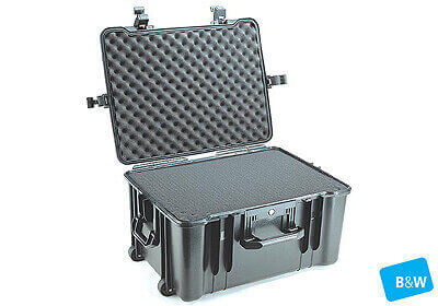 B&W outdoor.case, Type 68, black, padded dividers, no. 1.6033/B/RPD