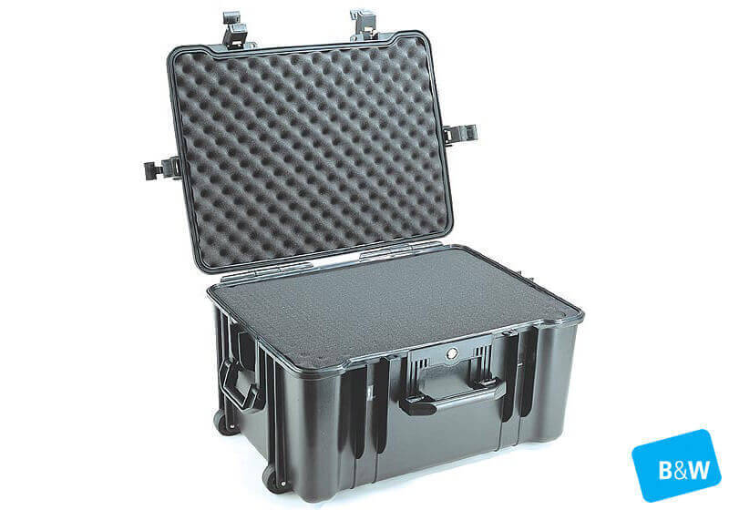 :B&W outdoor.case, Type 68, black, empty, no. 1.6033/B