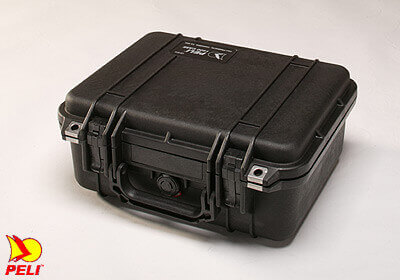 Peli 1400 case, silver, with Pick 'N' Pluck foam, no. PL1400-000-180