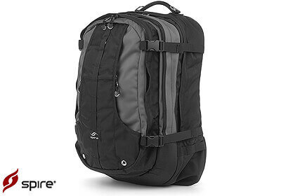"Spire laptop backpack ""Meta"", arctic grey / black, no. ME6-GRY"