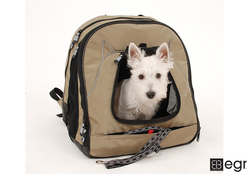 PetEgo EB Pet@Work small pet carrier, tan, ERPETW