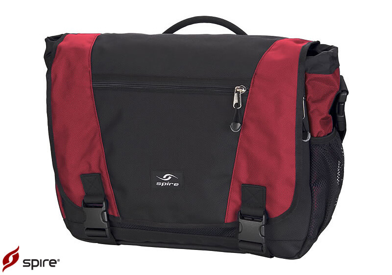 Spire Endo XL laptop messenger bag - Chili red/black (SREX-RED)