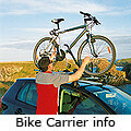 Mitsubishi Carisma four door saloon (1997 to 2003):Bike carrier information