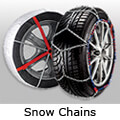 Hyundai Accent four door saloon (2000 to 2006):Snow Chains