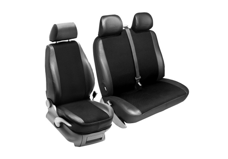 Volkswagen VW T5 Transporter L2 (LWB) H1 (low roof) (2003 to 2015):PeBe Transport 3.0 1 + 2 seat cover set, with headrests, no. 134009NR