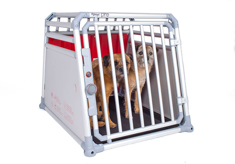 4pets ProLine crash tested dog cage crate aluminium Scratch Guard