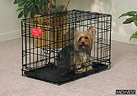 ":Midwest 22"" folding dog cage, double door, black, no. MD1622DD"
