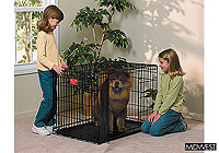 ":Midwest 36"" folding dog cage, double door, black, no. MD1636DD"