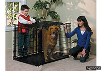 ":Midwest 42"" folding dog cage, double door, black, no. MD1642DD"