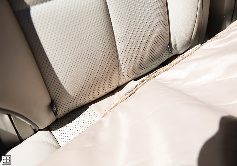 PetEgo EB front car seat protector cover, tan, ERSPFS-TN