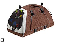 :EB Jet Set pet carrier, small size, silver + brown, no. JET SET FF SB S