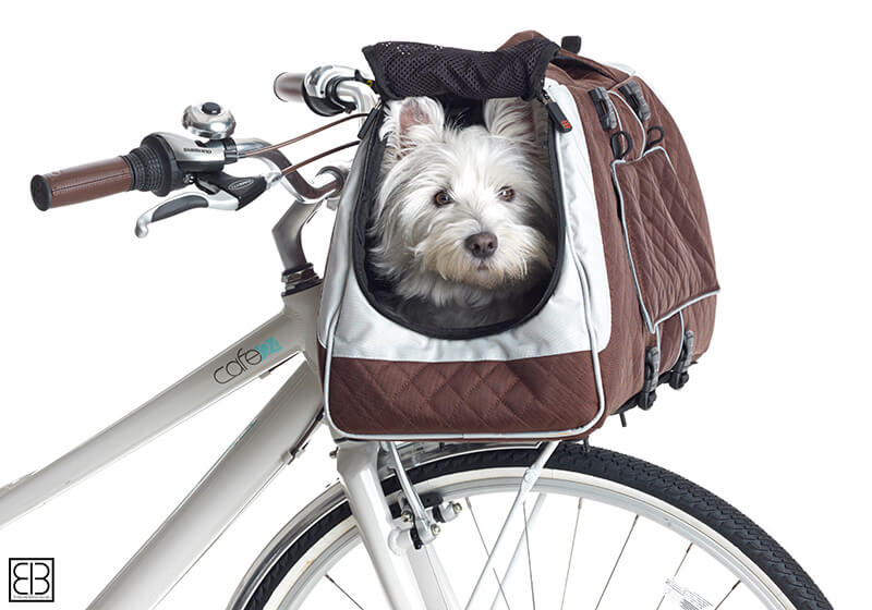 PetEgo EB Emanuele Bianchi Design Jet Set small pet carrier in silver and brown, large size EBJSL-SB