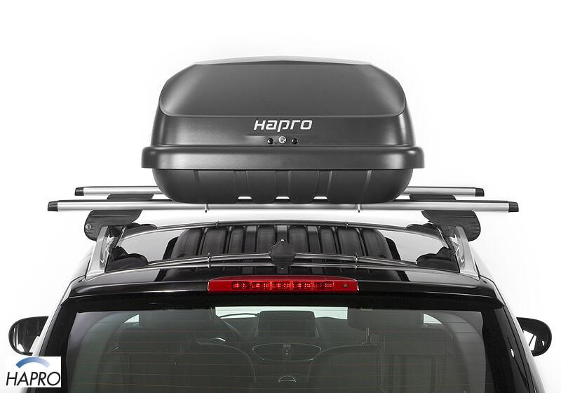 hapro roady 350 roof box anthracite black no 33191. Black Bedroom Furniture Sets. Home Design Ideas