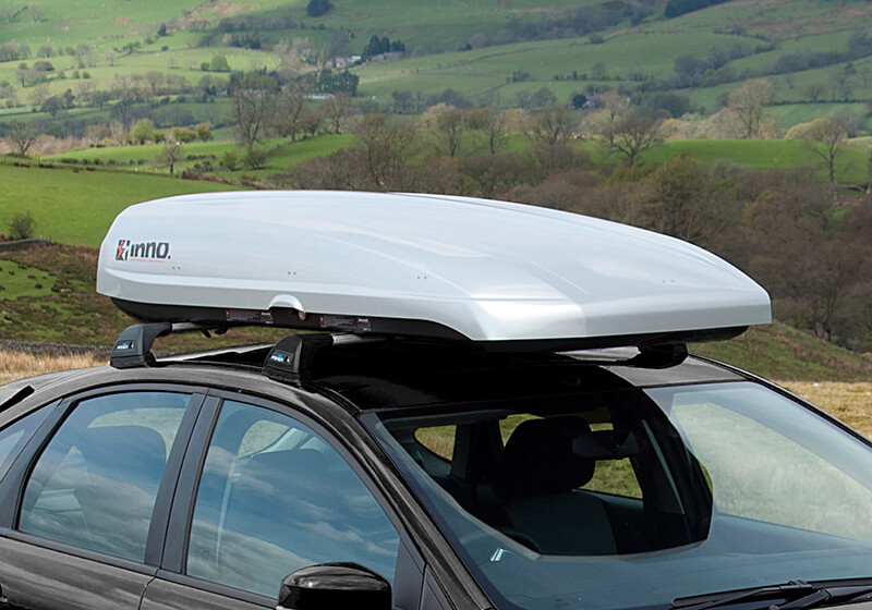 :INNO Shadow 16 roof box, silver, no. INRS16S (BRA1250)
