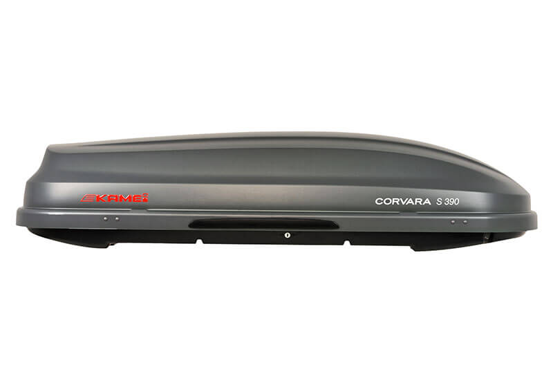 :KAMEI Corvara S 390 carbon grey roof box no. KM536 (0 81536 21)